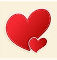 cute red hearts with text space vector image