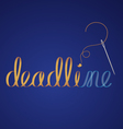 deadline vector image