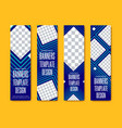 design vertical web banners with squares and vector image vector image
