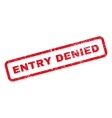 Entry Denied Text Rubber Stamp