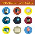 financial flat icon vector image vector image