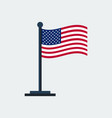 flag of united-statesflag stand vector image vector image