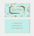 floral business card templates fashion cards on a vector image vector image