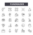 fundraiser line icons signs set linear vector image