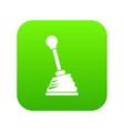 gear stick icon digital green vector image