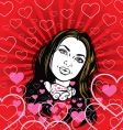 girl in love vector image vector image