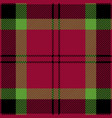 green red and black tartan plaid seamless pattern vector image vector image