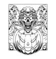 halloween pumpkin mascot logo with zombie head vector image