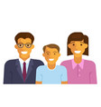 happy family smiling vector image vector image