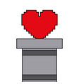 heart love life video game vector image