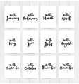Hello month 12 cards Hand drawn design vector image vector image