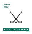 hockey symbol icon vector image vector image