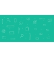 icons analytics background sketch doodle vector image