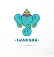 India - Ganesha Indian icon vector image vector image