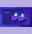 isometric cloud mining landing page concept vector image vector image