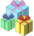 isometric gift box template eps10 vector image