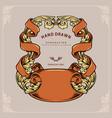 label ornate swirls frame design vector image