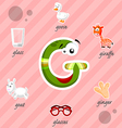Letter G with words vector image vector image