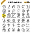 life skills concept icons vector image vector image