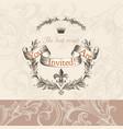 luxury wedding invitation in victorian style vector image vector image