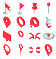 map pointer icons set isometric style vector image vector image