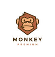 monkey chimp gorilla logo icon vector image vector image
