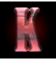 old metal letter vector image vector image