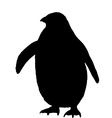 Penguin Silhouette vector image vector image