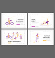 people healthy lifestyle and sport activity vector image vector image