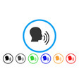 person speech waves rounded icon vector image