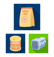 pet shop flat icons in set collection for design vector image vector image