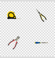 realistic nippers forceps chisel and other vector image vector image