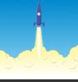 Rocket clouds copy vector image vector image