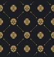 royal baroque seamless black pattern vector image