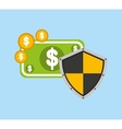 security money investment flat vector image vector image