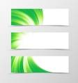 Set of banner swirl design vector image vector image