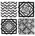 set of four seamless geometric backgrounds vector image vector image