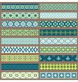 set ribbons and borders vector image