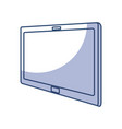shadow tablet cartoon vector image vector image