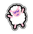sheep stitched frame vector image vector image