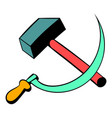 sickle and hammer icon cartoon vector image
