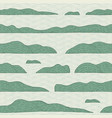 simple seamless pattern with islands on water vector image