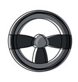 steering wheel icon image vector image vector image