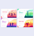 street artists around the world brochure cards set vector image vector image