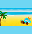 summer banner template with beach accessories and vector image vector image