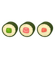 sushi with different stuffing vector image vector image