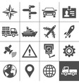 Transportation icons set Simplus series vector image vector image