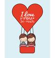travel love design vector image