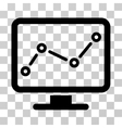 Trend Monitoring Icon vector image vector image