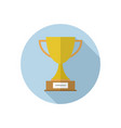 trophy cup in circle simple winner symbol black vector image